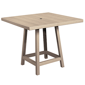 Generation Beige  40-Inch Square Pub Table Top with 40-Inch Pub Table Legs