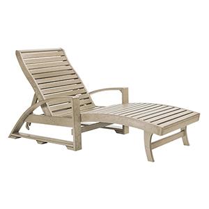St. Tropez Beige Chaise Lounge