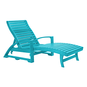 St. Tropez Turquoise Chaise Lounge