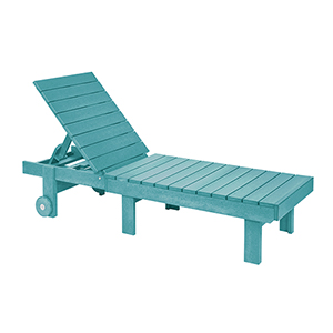 Generation Turquoise  Chaise Lounge with Wheels
