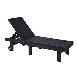 Generations Chaise Lounge with wheels-Black