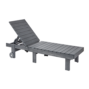 Generations Chaise Lounge with wheels-Slate Grey