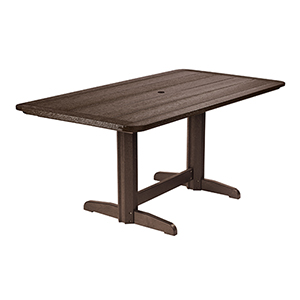 Generations Double Pedestal Dining Table (Base included)-Chocolate