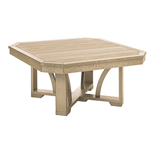 St. Tropez Beige 35-Inch Square Cocktail Table