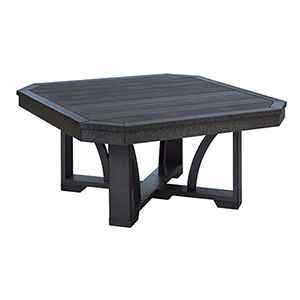 St Tropez 35-inch Square Cocktail Table-Black