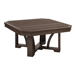 St Tropez 35-inch Square Cocktail Table-Chocolate
