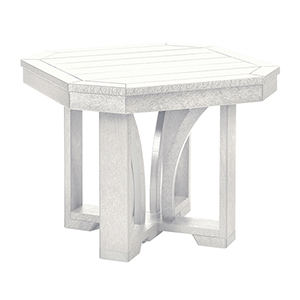 St Tropez 25-inch Square End Table -White