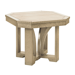 St. Tropez Beige 25-Inch Square End Table