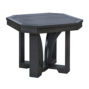 St Tropez 25-inch Square End Table -Black