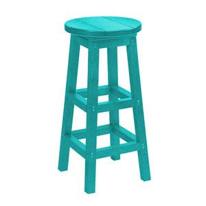Generation Turquoise Swivel Barstool