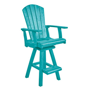 Generation Turquoise Swivel Pub Arm Chair
