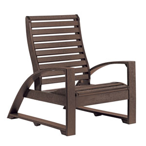 St Tropez Lounger Chair -Chocolate