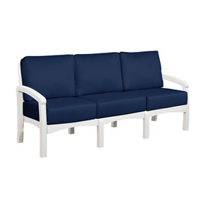 Bay Breeze Spectrum Indigo Sofa with Cushions