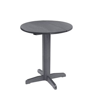 Attirant Generation 32 Inch Slate Grey Round Table Top With A 40 Inch Pub Pedestal