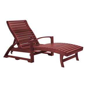 St. Tropez Burgundy Chaise Lounge