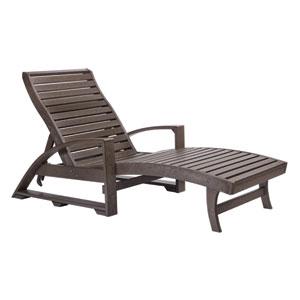 St. Tropez Chaise Lounge w/wheels -Chocolate