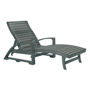 St. Tropez Slate Grey Chaise Lounge