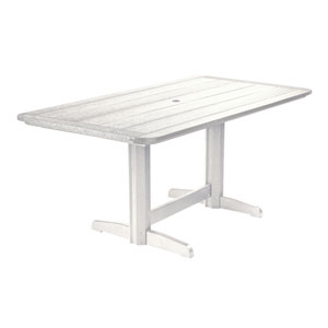 Generations Double Pedestal Dining Table (Base included)-White