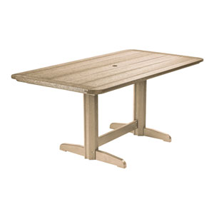 Generations Double Pedestal Dining Table (Base included)-Beige