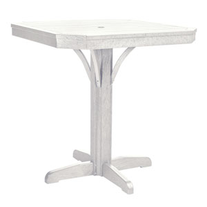 St Tropez 35-inch Square Counter Table -White