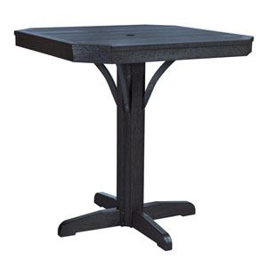 St Tropez 35-inch Square Counter Table -Black