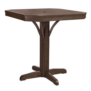 St Tropez 35-inch Square Counter Table -Chocolate