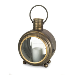 Antique and Gold Seven-Inch Lantern