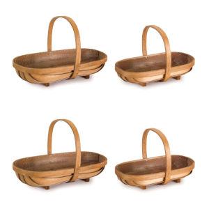 Brown 10-Inch Basket, Set of 4