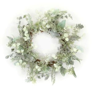 Green and Brown Seven-Inch Mixed Herb Wreath