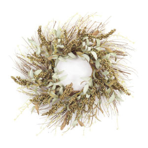 Green and Brown Eight-Inch Leaf Wreath