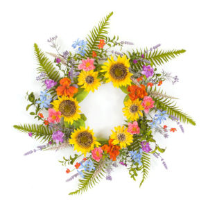 Multicolor Six-Inch Sunflower Wreath