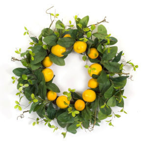 Green and Yellow Seven-Inch Lemon Wreath
