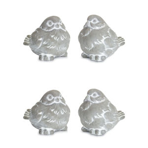 Gray and White Four-Inch Figurines, Set of 4