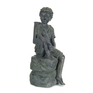 Gray and Brown 14-Inch Garden Statue