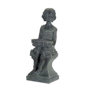 Gray and Brown Nine-Inch Garden Statue