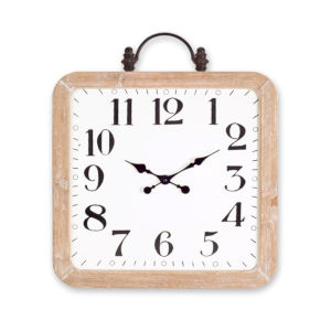 Brown and White 24-Inch Wall Clock