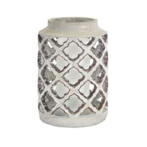 Gray and Brown Eight-Inch Candle Holders