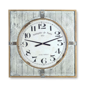 White and Brown 24-Inch Clock