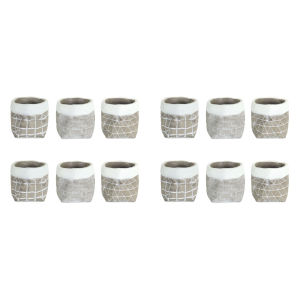 Gray and White Five-Inch Container, Set of 12
