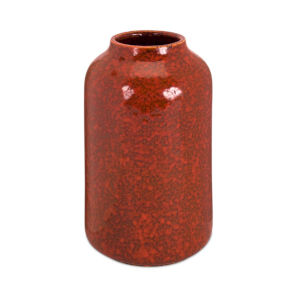 Red and Brown Seven-Inch Vase