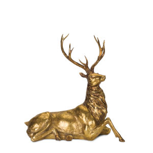 Gold and Black Deer Figurine