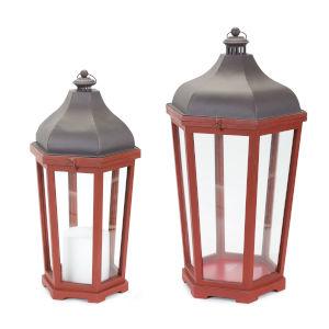 Red and Purple Lantern, Set of 2