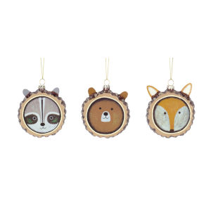 Fox, Raccoon and Bear Disc, Set of 12