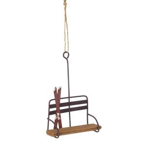 Ski Chair Lift Ornament, Set of 12