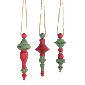 Large Holiday Drop Ornament, Set of 6