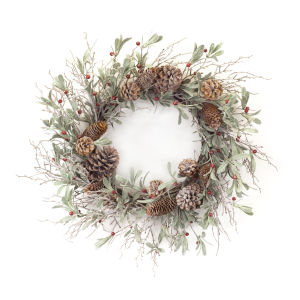Holiday Pine and Berry Wreath