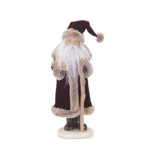 Burgundy Santa with Packages