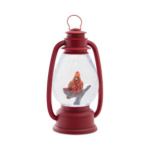 LED Lighted Cardinal Lantern Snow Globe