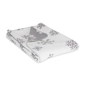 Grey and White Snowflake Throw