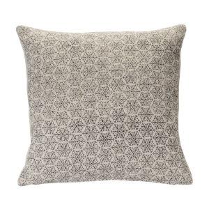 Black and Cream Throw Pillow